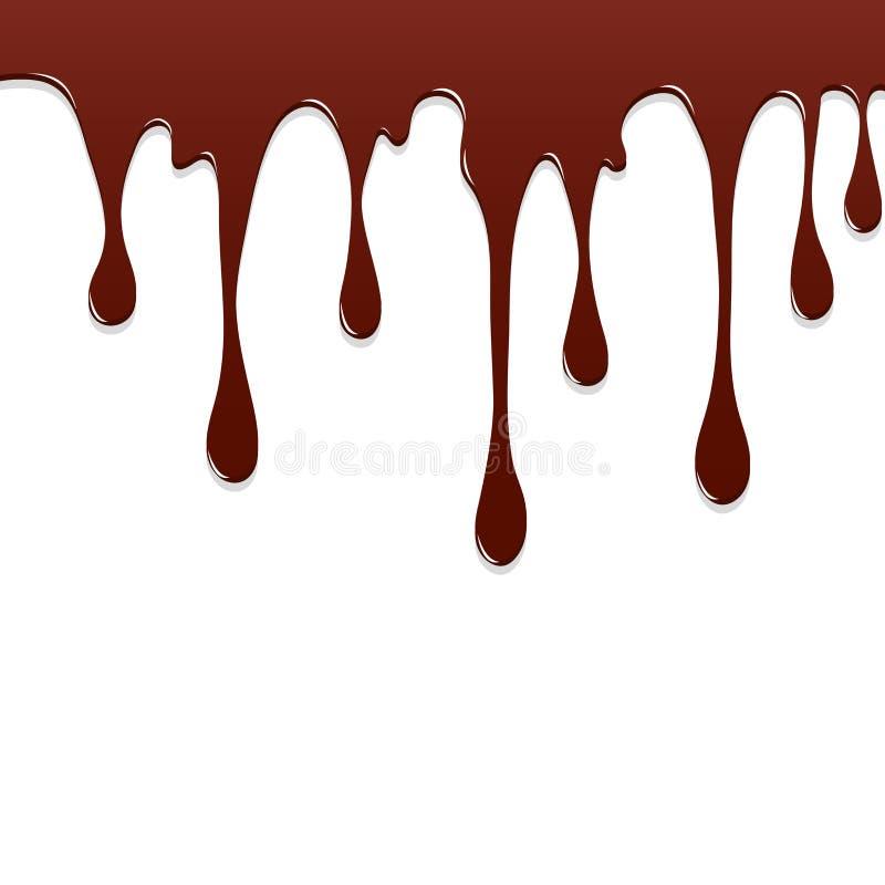 Salpicadura colorida del goteo del chocolate de la pintura, chapoteo del color o diseño de caída del vector del fondo stock de ilustración
