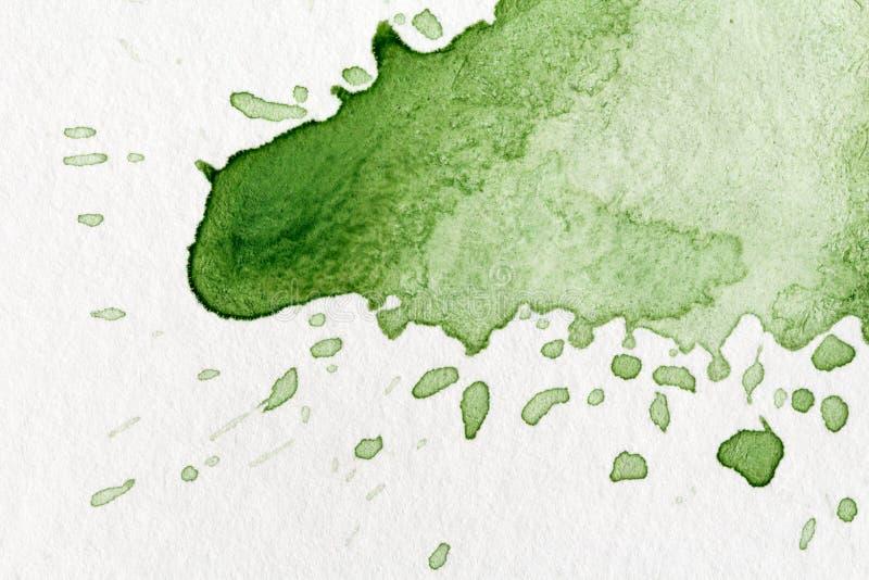 Salpicadura de la acuarela verde fotografía de archivo