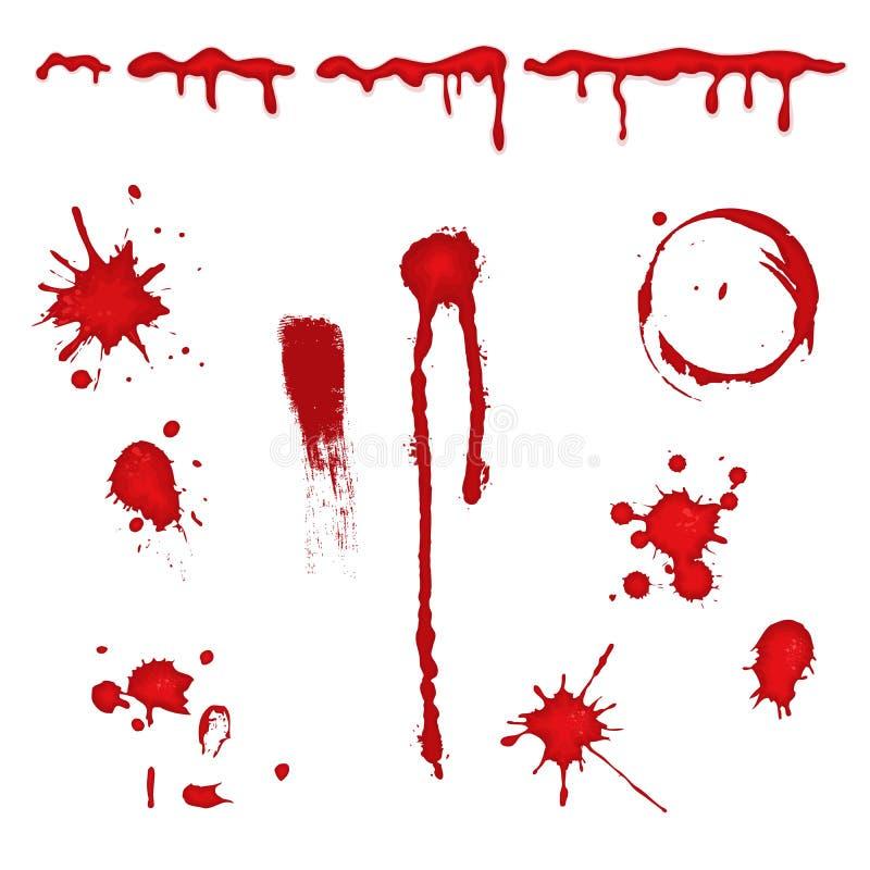 Salpicadura de la sangre -   stock de ilustración