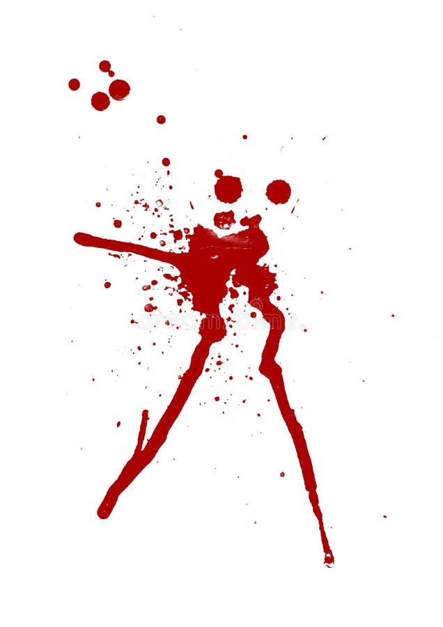 Salpicadura de la sangre stock de ilustración