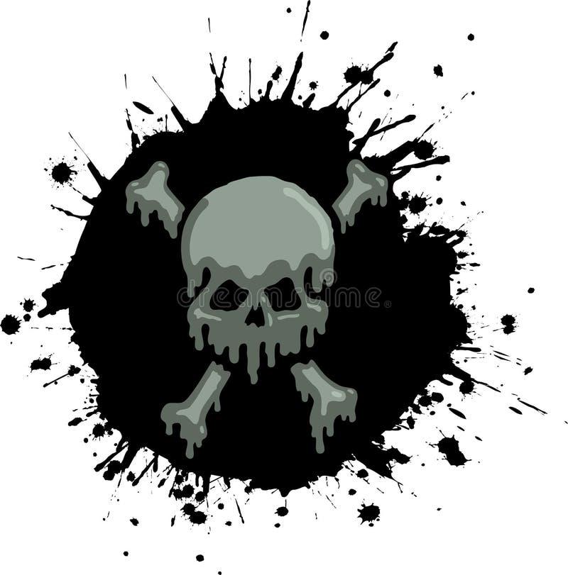 Salpicadura del cráneo del petróleo libre illustration