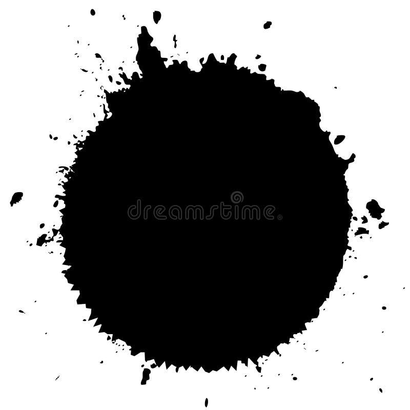 Salpicadura del vector de la mancha blanca /negra de la tinta ilustración del vector