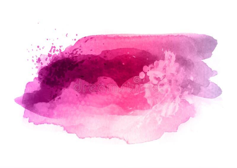 Salpicadura del Watercolour con las salpicaduras detalladas stock de ilustración