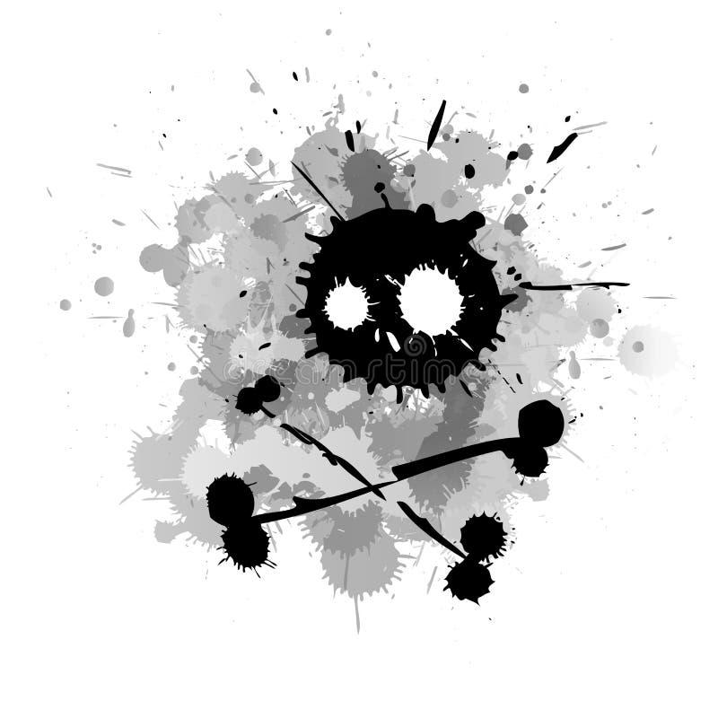 Salpicadura espeluznante del cráneo libre illustration