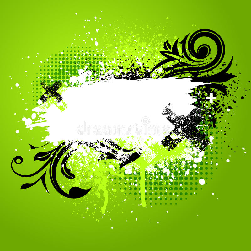 Salpicadura floral verde de la pintura libre illustration
