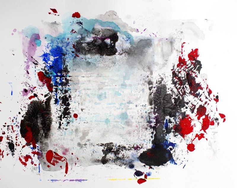 Salpicadura moderna de acrílico de la pintura del arte contemporáneo del extracto foto de archivo