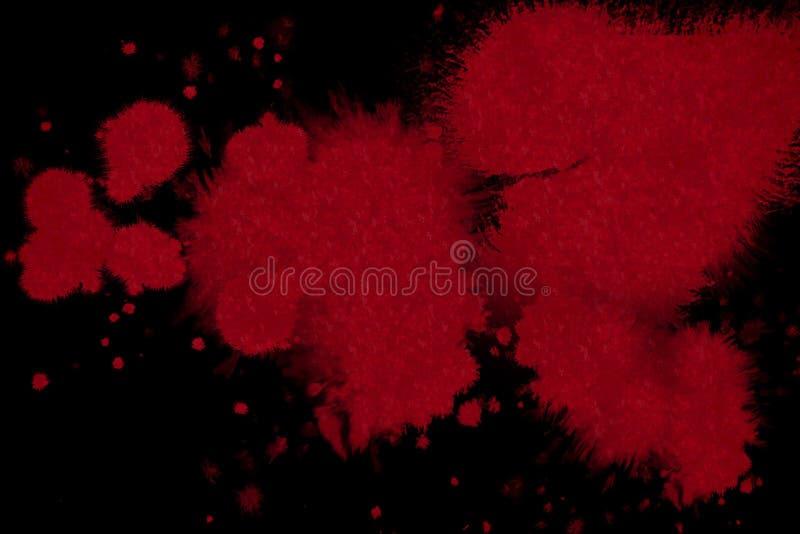 Salpicadura roja abstracta de la tinta de la sangre foto de archivo