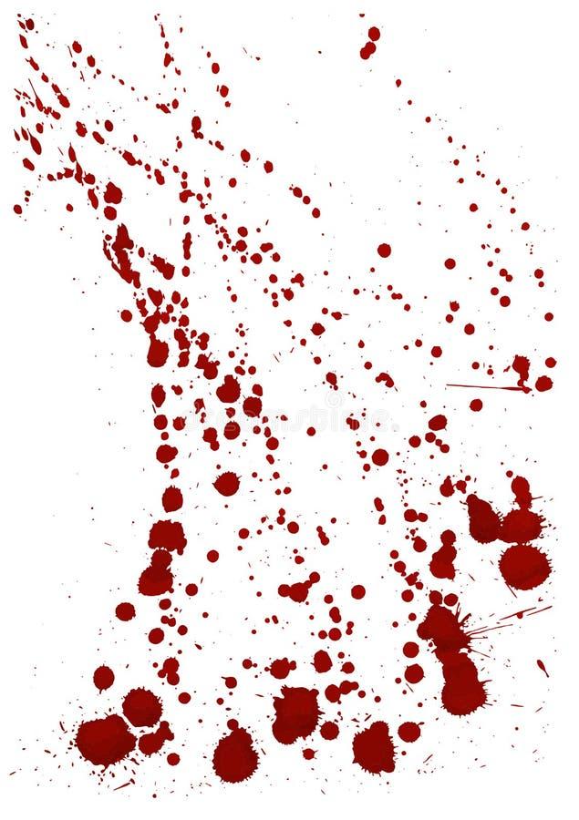 Salpicadura seca de la sangre Fondo moderno Ilustración del vector stock de ilustración