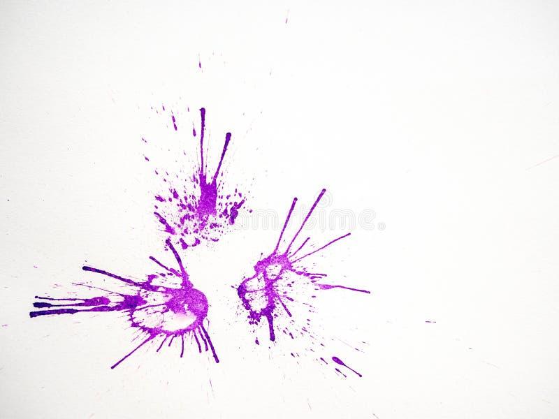 Salpicadura soplada abstracta de la tinta en el Libro Blanco foto de archivo