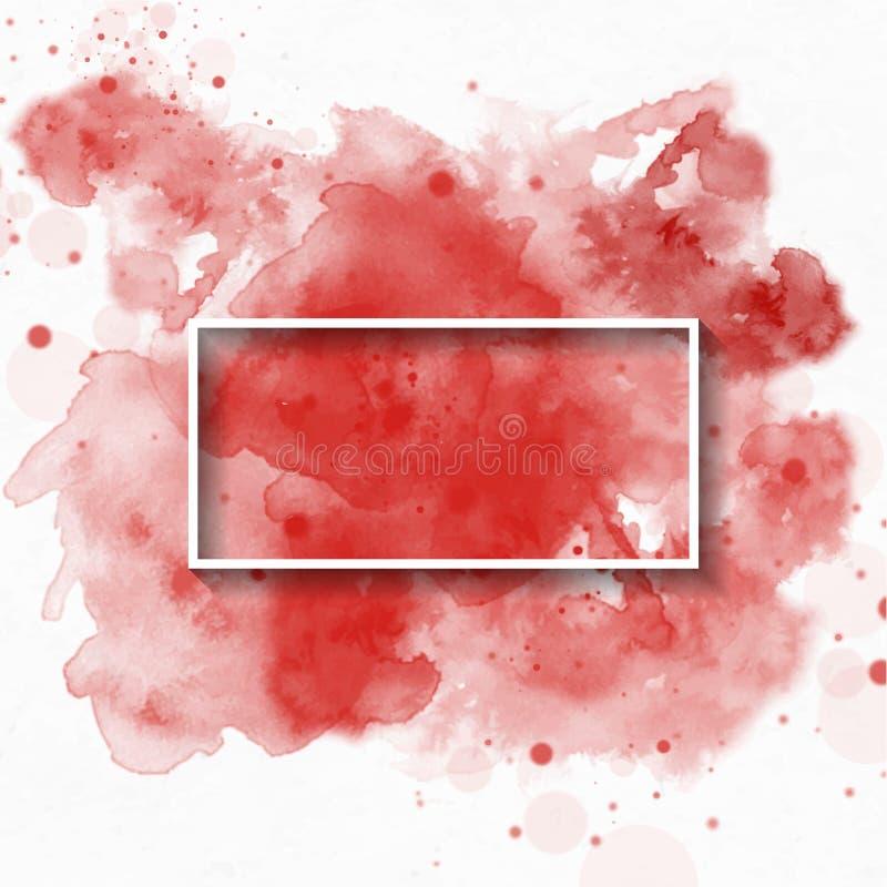 Salpique el fondo de la acuarela, usado para la bandera, la plantilla, la invitación o cualquier decoración Ilustraci?n del vecto stock de ilustración