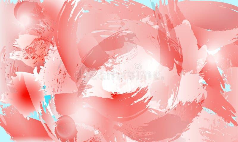 Salpique el fondo en tintes color de rosa Cartel del dise?o ilustración del vector