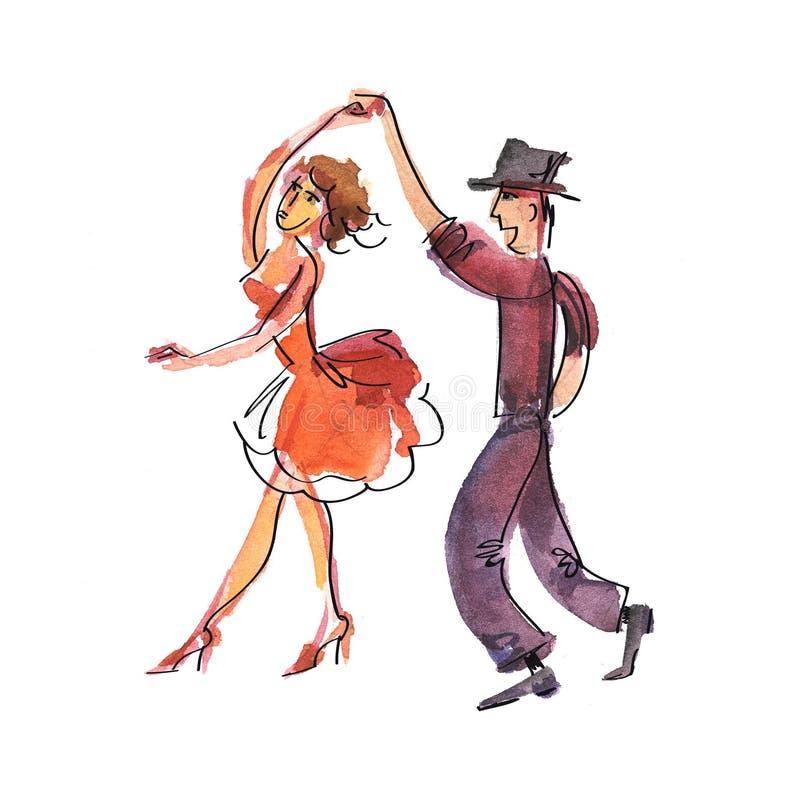 salsa royaltyfri illustrationer