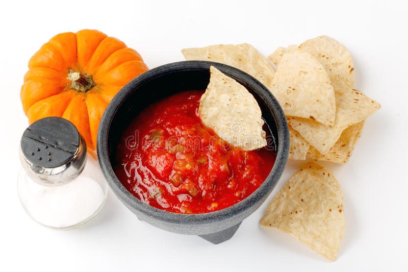 Salsa and Chips Time royalty free stock photo