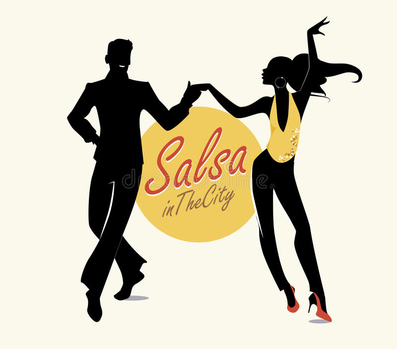 Salsa in the City Tropical royalty free illustration
