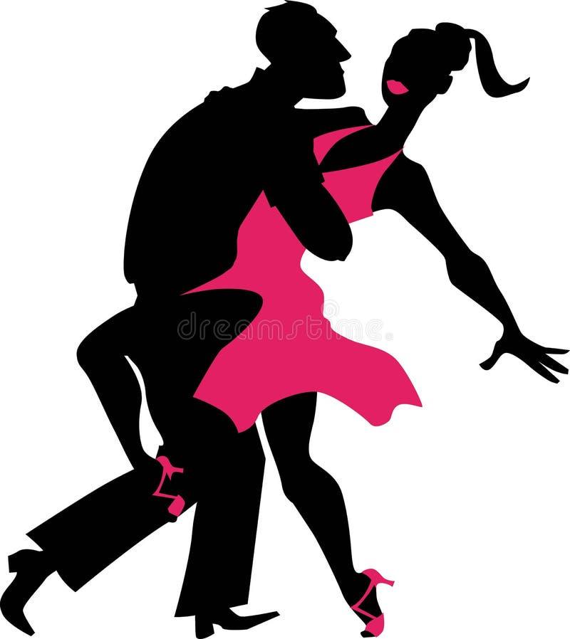 Salsa couple stock illustration