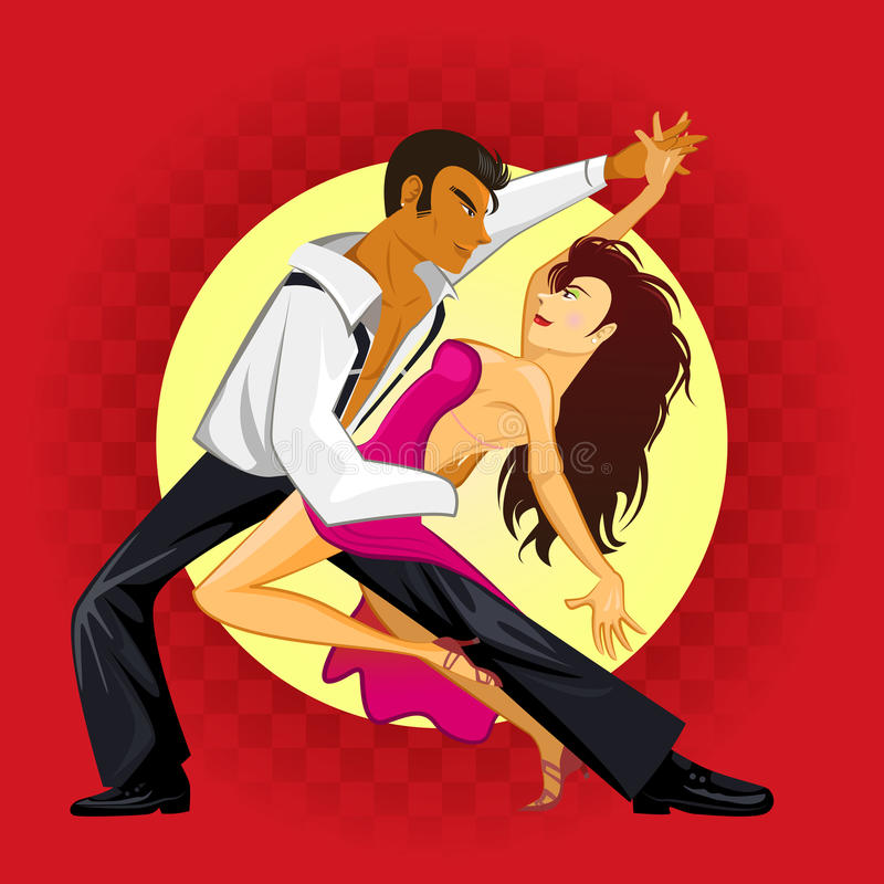 Salsa Dance royalty free illustration