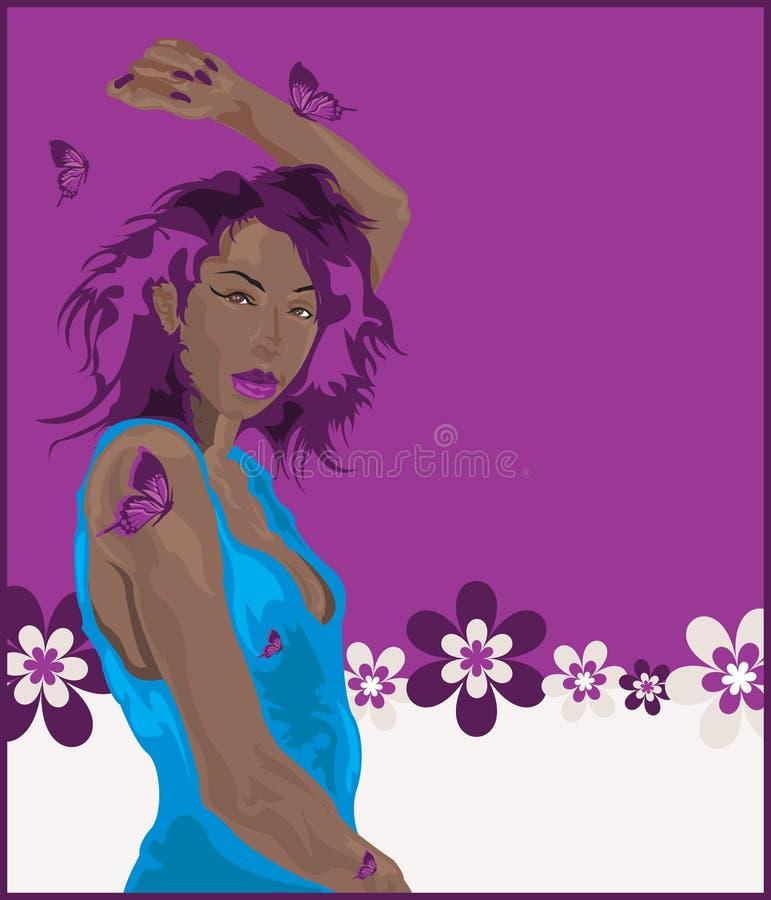 Salsa Dancer royalty free illustration