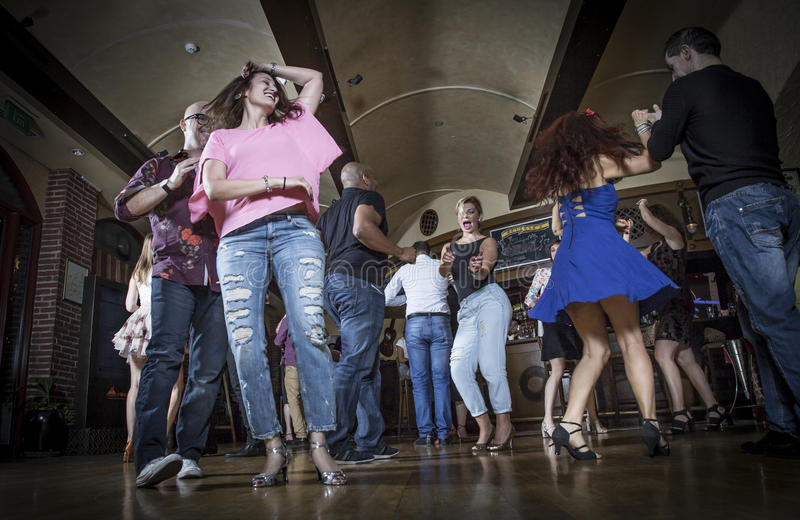 Salsa dancers royalty free stock images