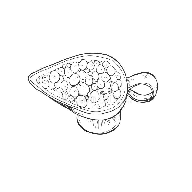 Salsa de arándano aislada stock de ilustración