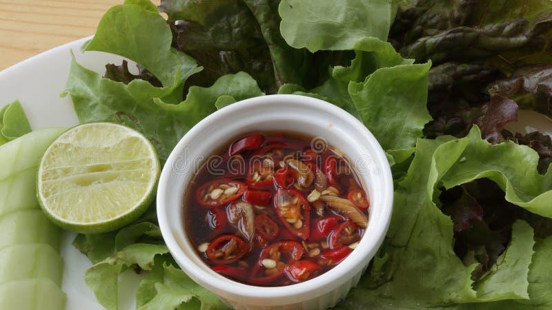 Salsa de chiles tailandesa fotos de archivo