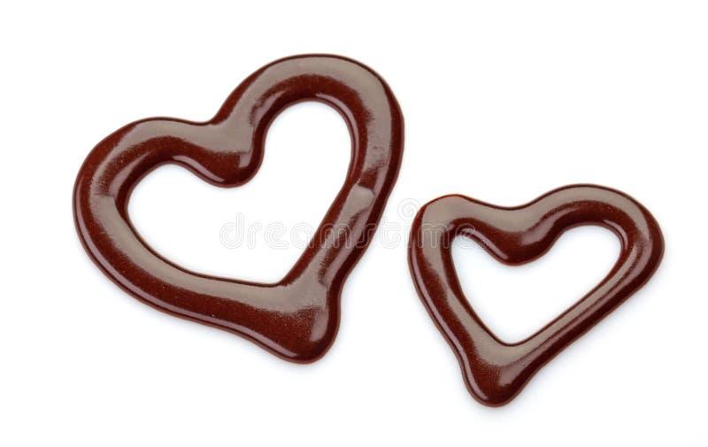 Salsa de chocolate dulce fotos de archivo libres de regalías