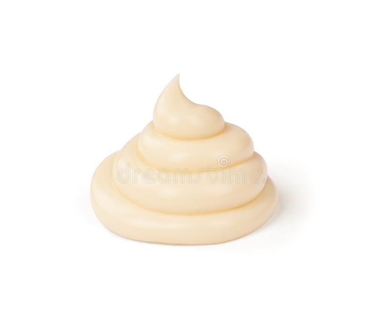 Salsa de la mayonesa aislada en el fondo blanco foto de archivo