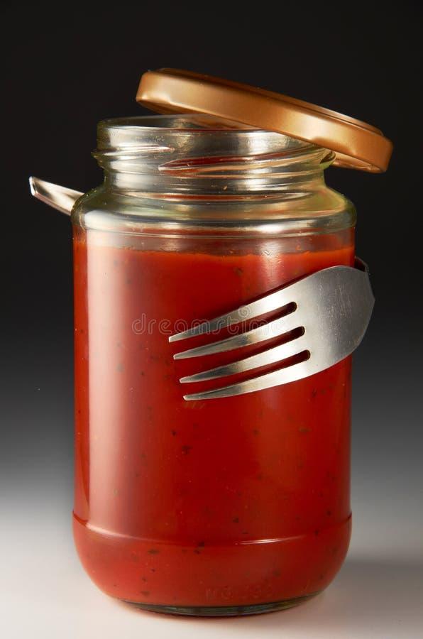 Salsa de tomate imagen de archivo libre de regalías