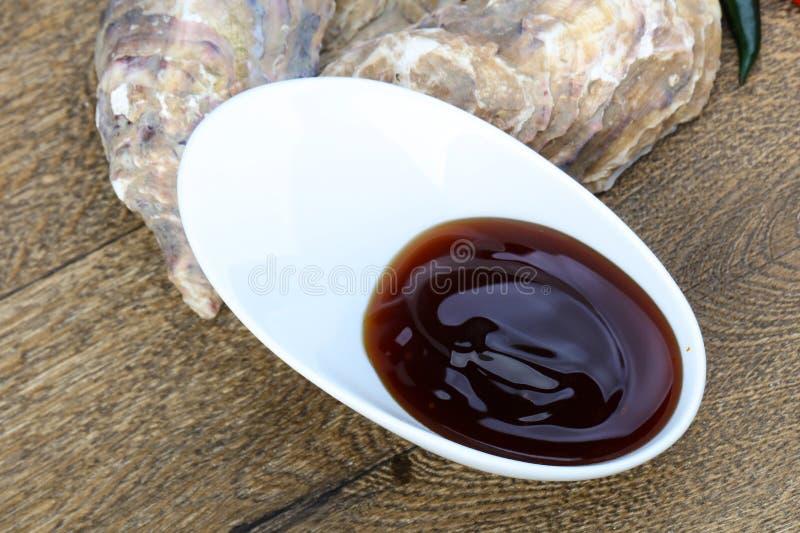 Salsa dell'ostrica fotografia stock