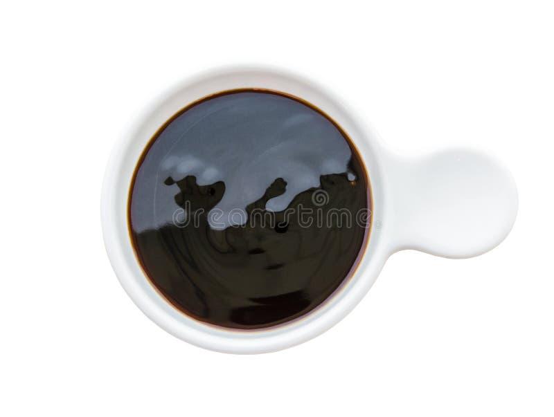 Salsa dell'ostrica in ciotola bianca fotografia stock libera da diritti