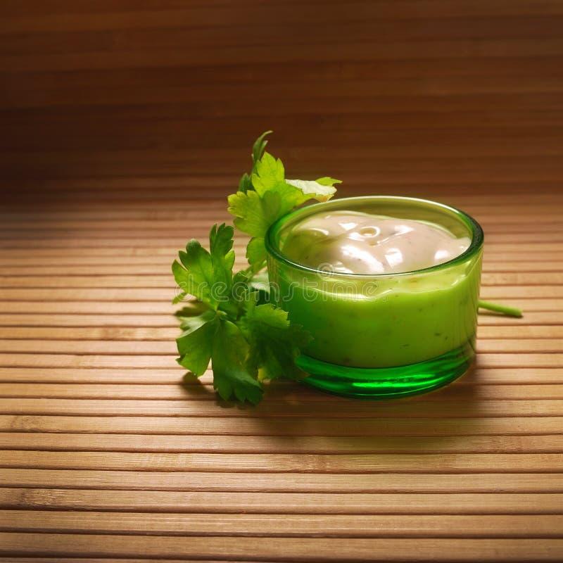 Salsa della maionese fotografia stock