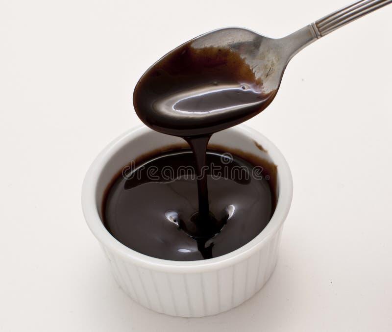 Salsa di cioccolato fotografie stock