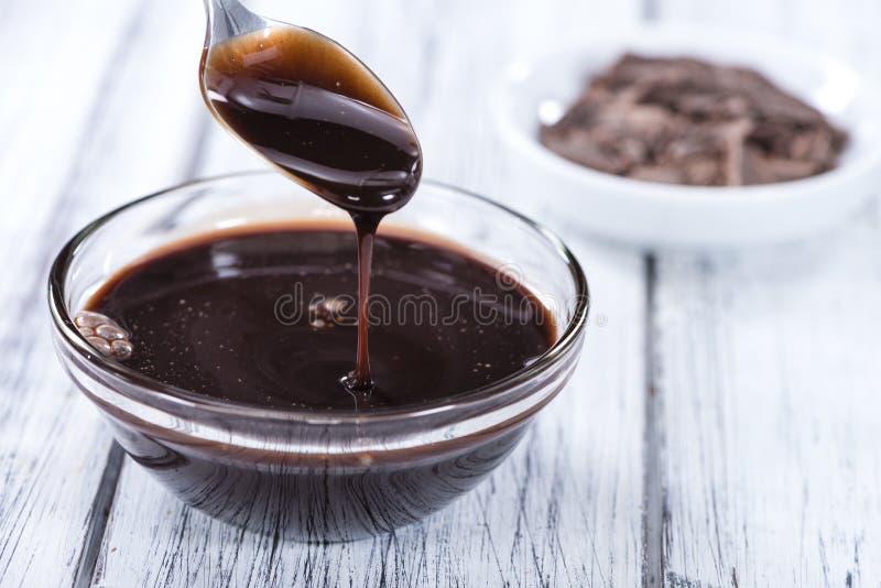 Salsa di cioccolato fondente immagine stock libera da diritti