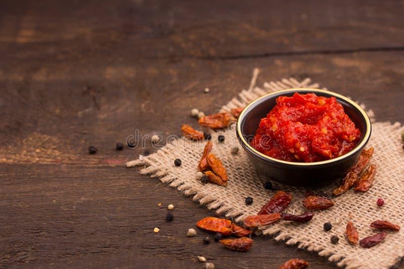 Salsa di peperoncini rossi fotografia stock