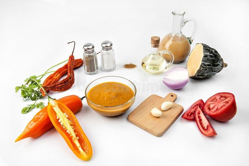 Salsa di peperoncini rossi di Amarillo immagine stock libera da diritti