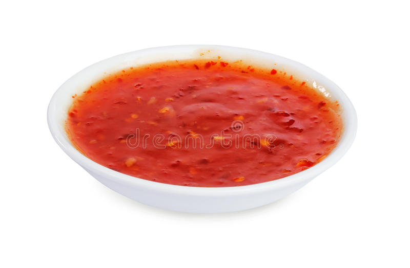 Salsa di peperoncini rossi rovente fotografie stock