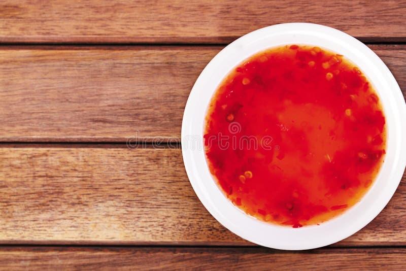 Salsa di peperoncino rosso rossa fotografia stock libera da diritti