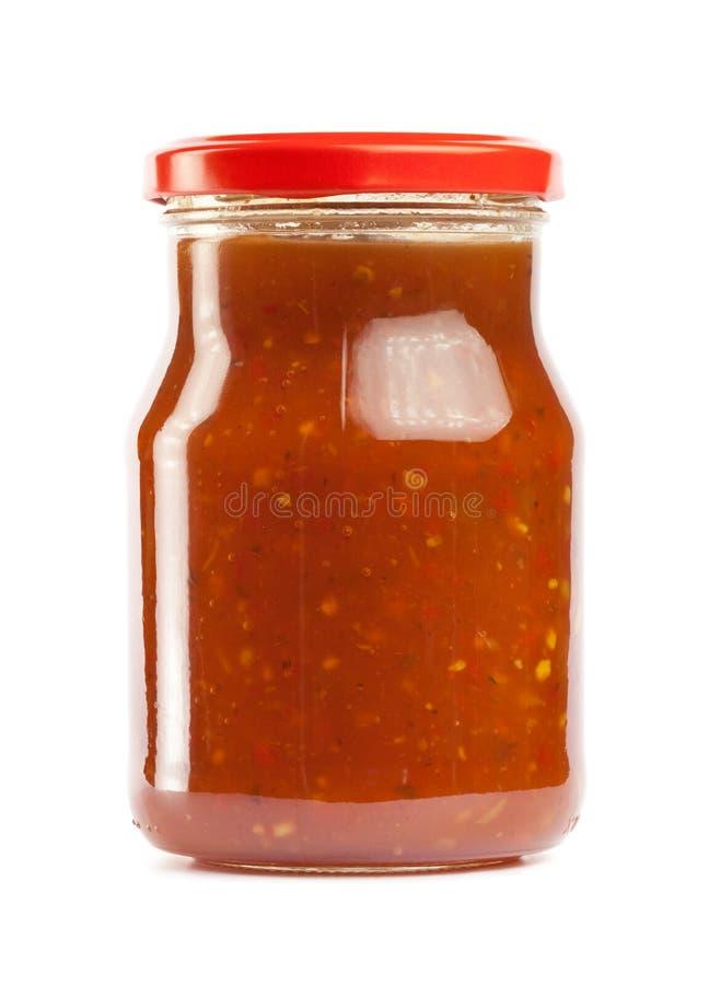 Salsa di pomodori calda immagini stock libere da diritti