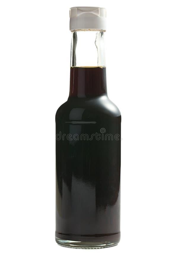 Salsa di soia in bottiglia fotografia stock libera da diritti
