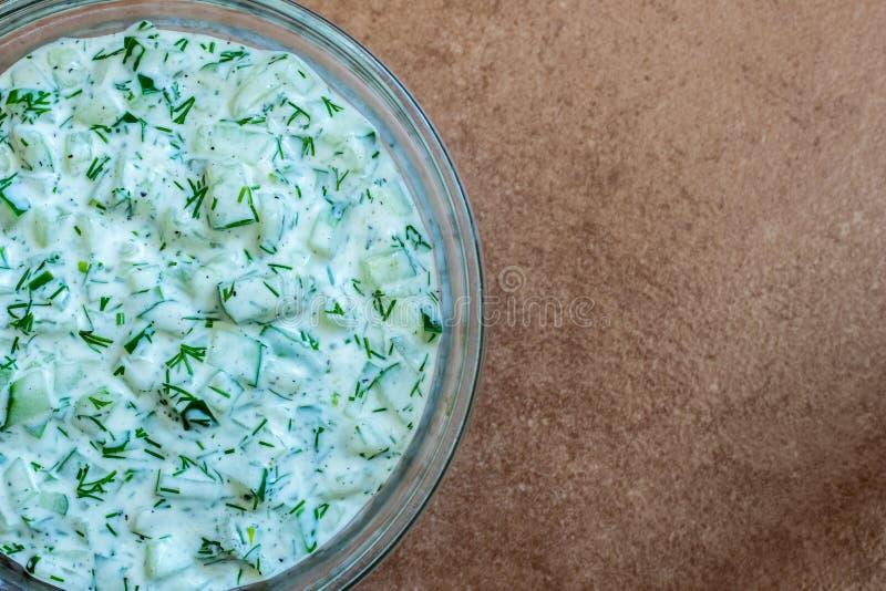Salsa di Tzatziki fotografie stock