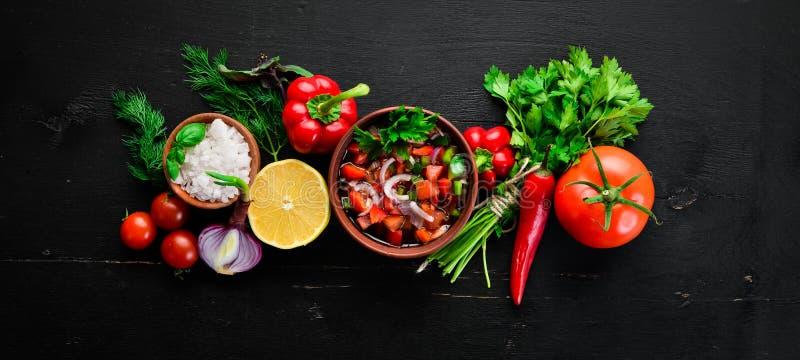 Salsa ed ingredienti della salsa immagini stock libere da diritti