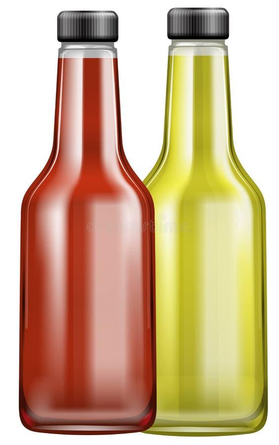 Salsa en el envase de la botella libre illustration