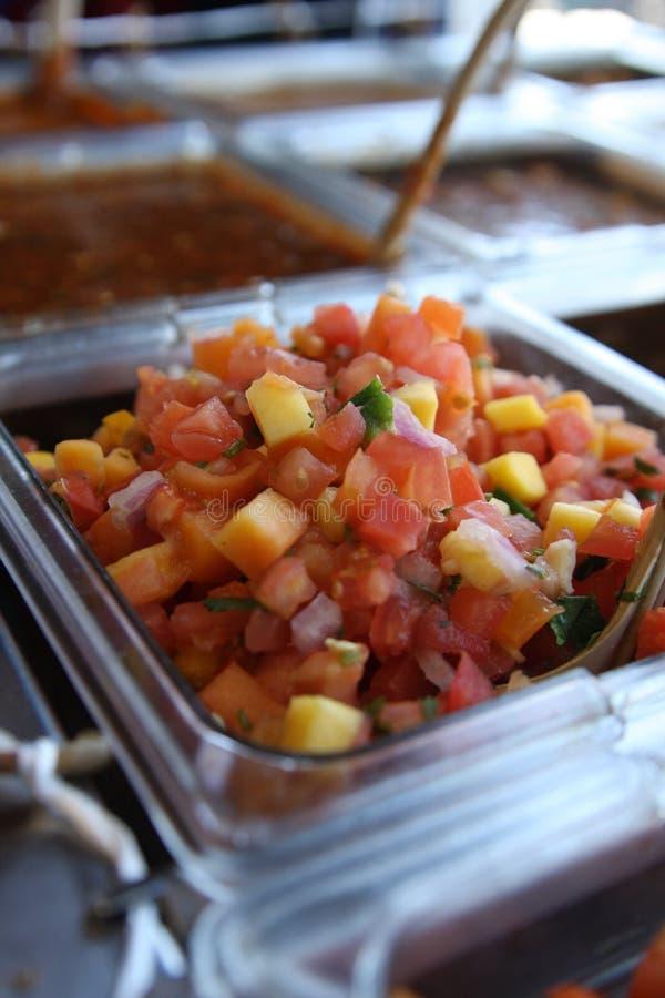 Salsa fresca del mango immagini stock libere da diritti