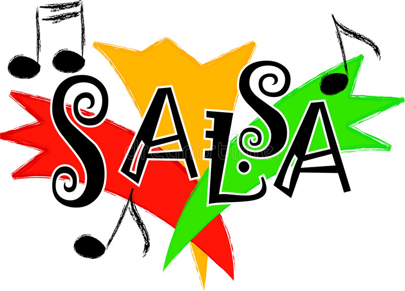 Salsa music/eps. Stylized illustration representing salsa music...part of a series of four music styles...eps available stock illustration