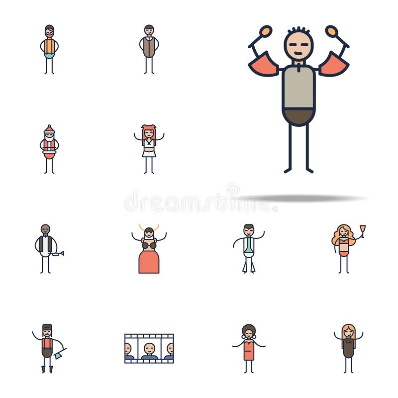 Salsa musician icon. Linear musical genres icons universal set for web and mobile. On white background royalty free illustration