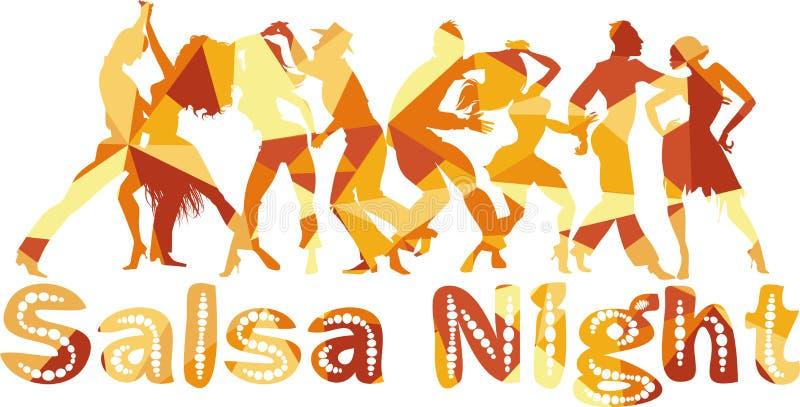 Salsa night stock illustration