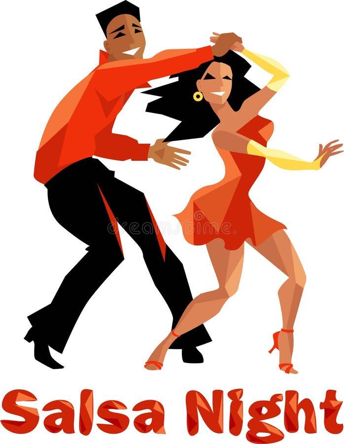Salsa night poster stock illustration