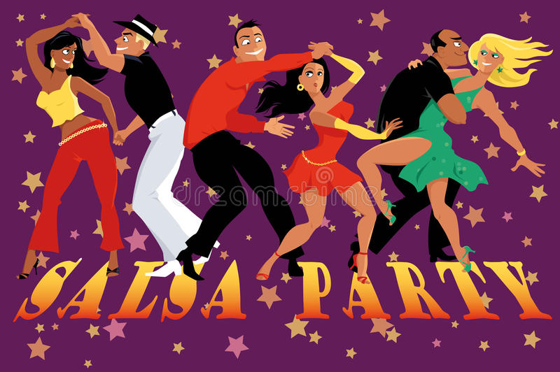 Salsa party poster stock illustration