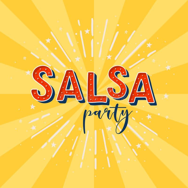 Salsa party stock illustration