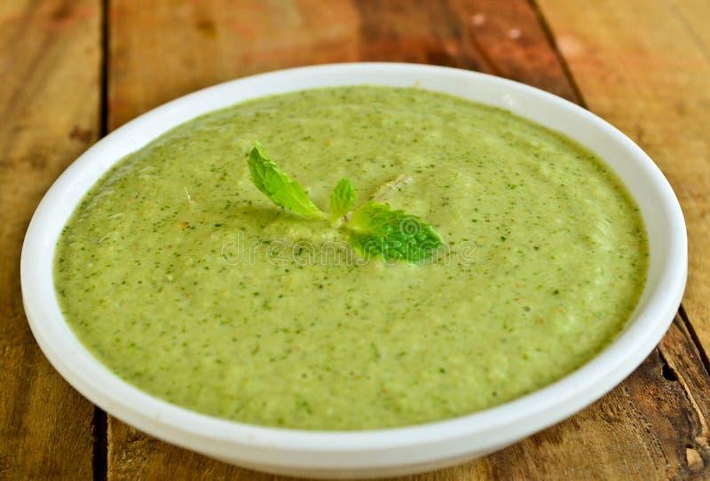 Salsa picante del verde de Indain imagen de archivo