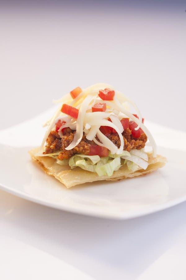 Salsa tacos z serem zdjęcie stock